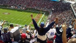 Dallas cowboy fans take over levi staduim.Our house