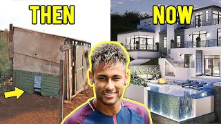 Top 10 Footballers Houses - Then and Now | ft. Ronaldo, Neymar, Messi