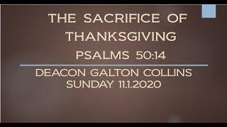 THE SACRIFICE OF THANKSGIVING - PSALMS 50:14