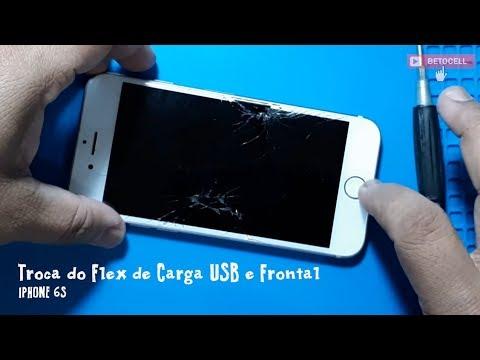 Troca Do Flex De Carga USB E A Frontal Do Apple Iphone 6s
