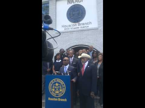 Bishop Dixon During NAACP Houston Branch Press Conference on Police Brutality