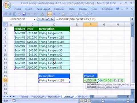 Excel Lookup Series #7: LOOKUP Function