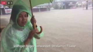 Hochwasser im Süden Thailands 08.01.2017