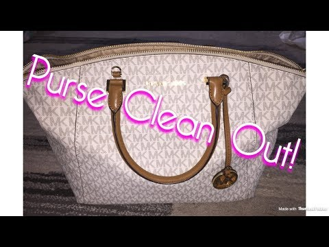 What's in My Purse/Clean out! |Michael Kors Riley