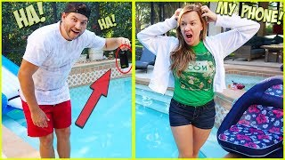 JESSE THROWS TERRA'S iPhone INTO THE POOL!!