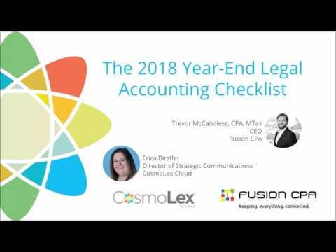 2018 Year End Legal Accounting Checklist