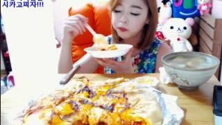 땅콩이가 만든 시카고피자!(Chicago-style pizza) 엔돌핀먹방^_^
