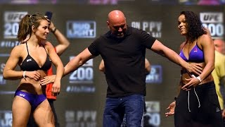 UFC 200 Weigh-In: Miesha Tate and Amanda Nunes Get Separated!