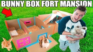WORLDS CUTEST BOX FORT!! 📦🐰 Bunny Box Fort W/ Pool, Movie Theatre & More!