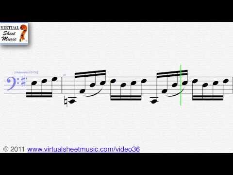Johann Sebastian Bach, Six Suites Suite No 1, Cello sheet music   Score