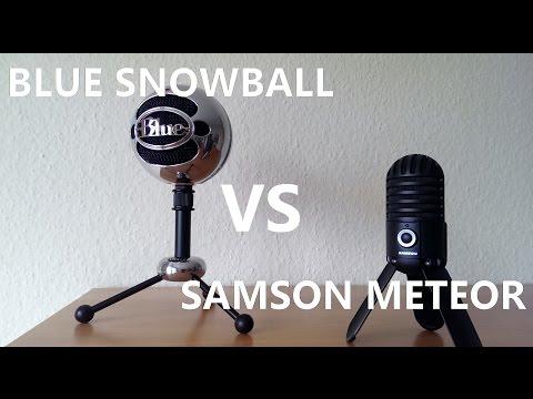 Blue Snowball vs Samson Meteor - Comparison and Sound Test