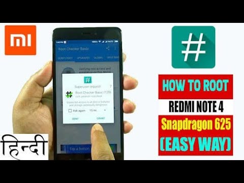 ROOT -REDMI NOTE 4- Without PC || EASY METHOD || 100% WORKING LATEST 2018