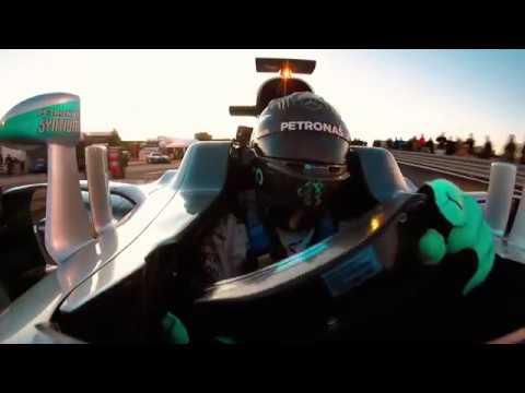 La despedida de Nico Rosberg con el Mercedes W07