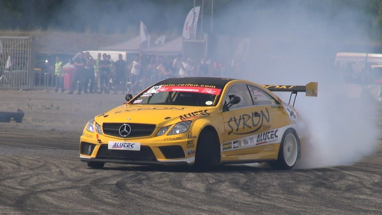 Benz Drift Car >> Modified Mercedes E-Coupe V8 500HP - DRIFT! - YouTube