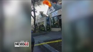 Woman forced to jump from window in Hartford fire