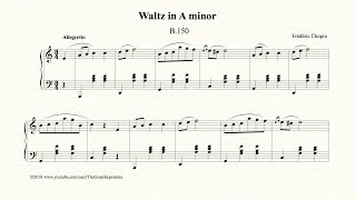 Download Chopin, Waltz in A minor, B 150, Op. Posth Mp3 and Videos