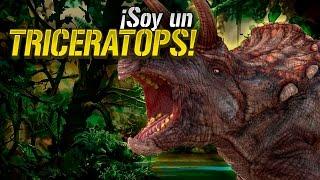 Cómo sería la vida de un Triceratops?, seguramente algo así jajaja ...