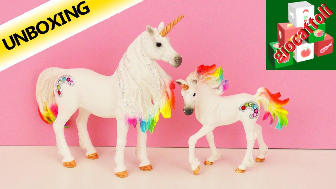 Unicorno Colorato Della Schleich Animali Colorati E Glitterati