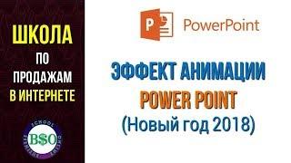Эффект анимации Power Point (Новый год 2018)