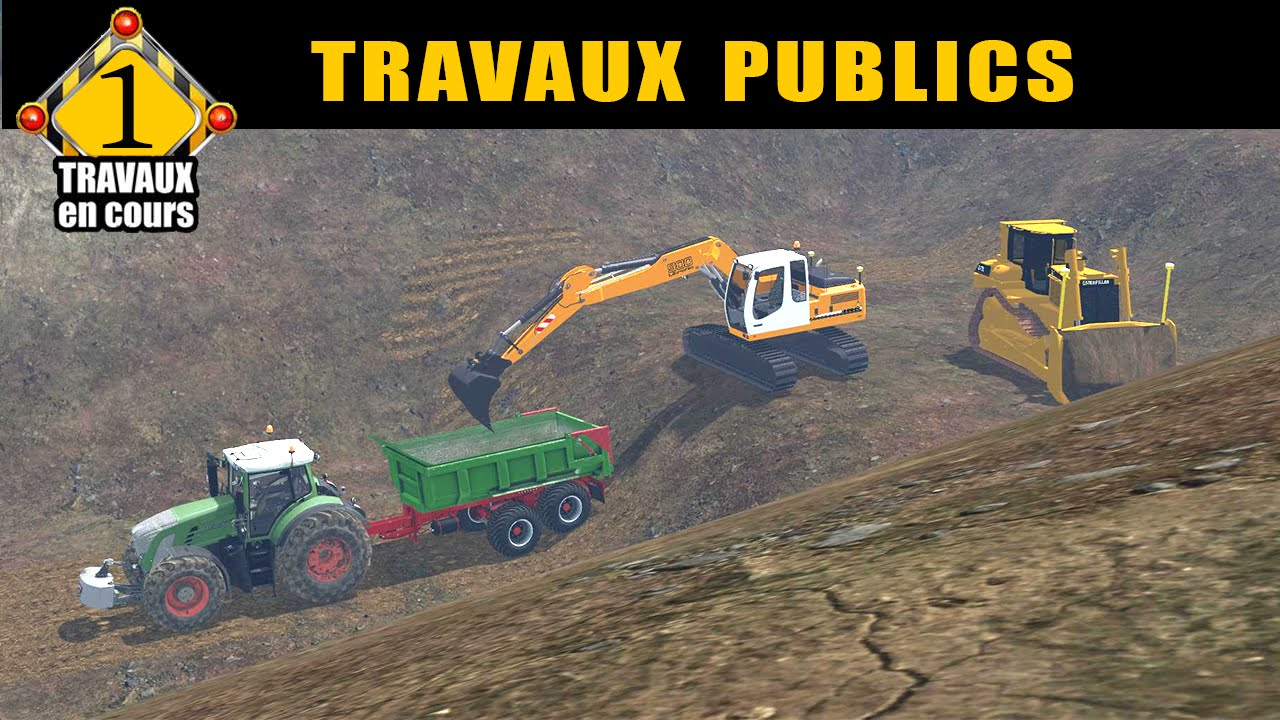 farming simulator 15 travaux publics by ft modding. Black Bedroom Furniture Sets. Home Design Ideas