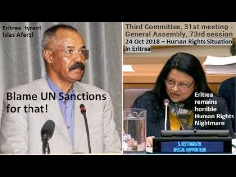 Eritrea tyrant now blames UN Sanctions for blatant HR violations, crimes against humanity