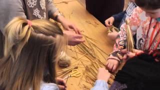 фигурки из соломы - мастер-класс в Суздале
