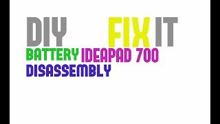 DIY - how to replace battery on Lenovo 700-15ISK, ideapad 700, tutorial