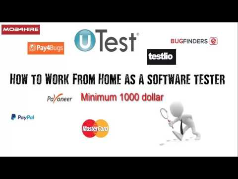 Work From Home and Earn Money as Software tester