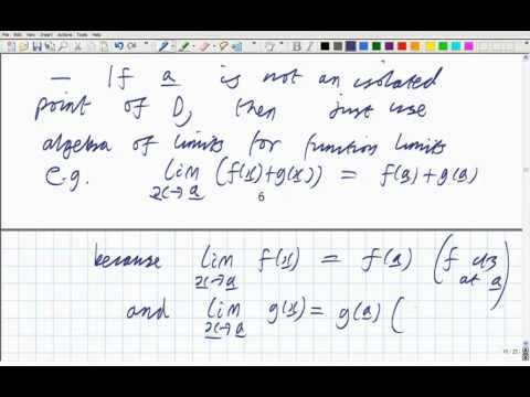 Lecture 15: Math. Analysis - Sandwich theorem for real-valued function limits