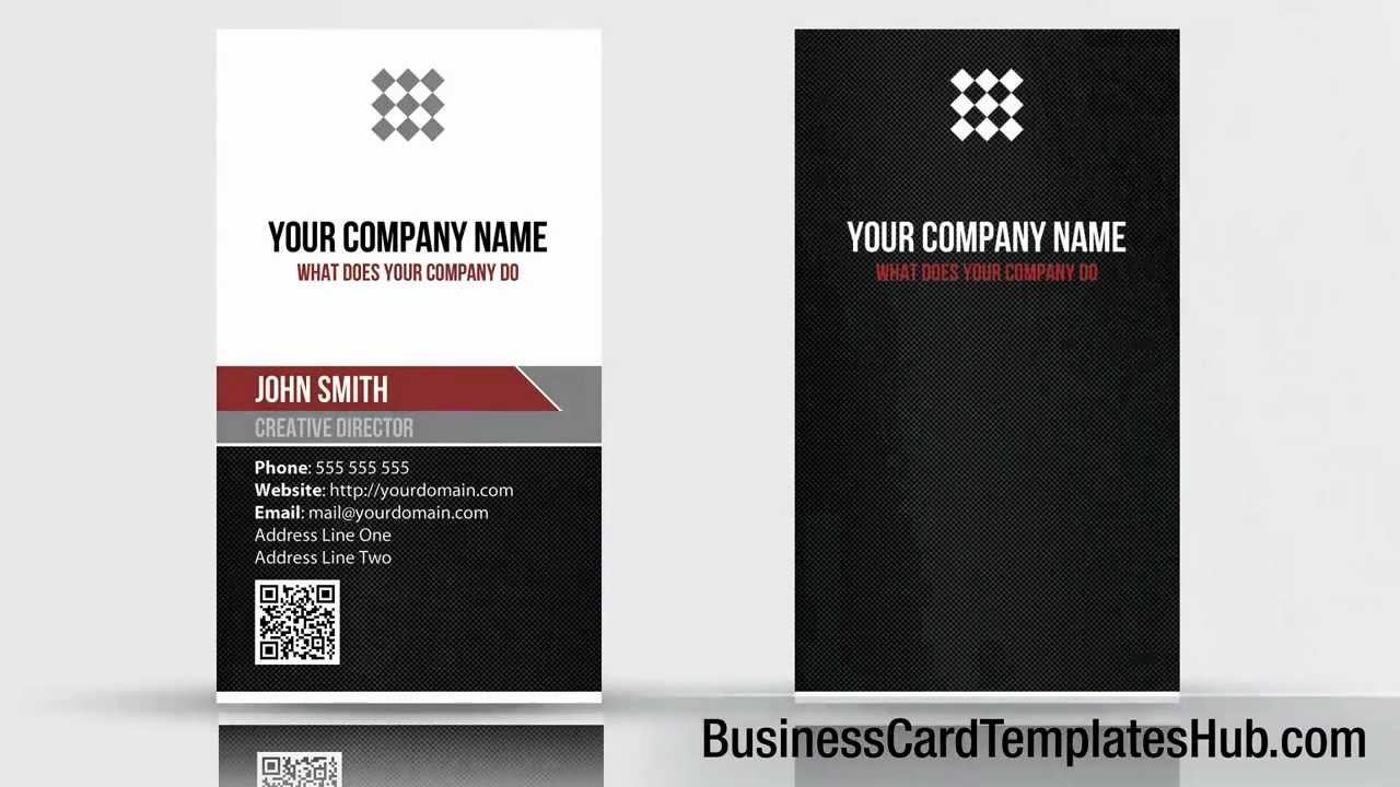 Unique vertical qr code business card template youtube wajeb Gallery