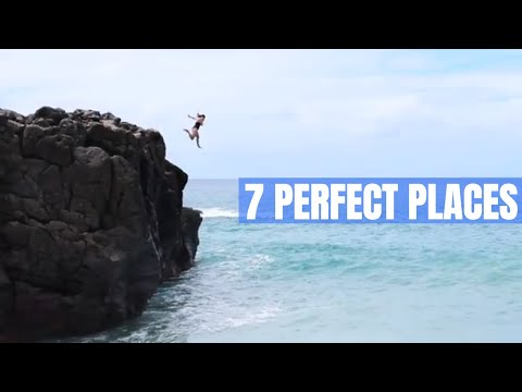 NORTH SHORE, OAHU, HAWAI'I--Road Trip And Cliff Jump  //  243