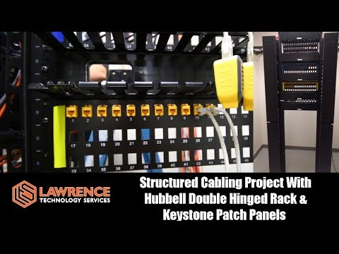 Structured Cabling Project in Detroit With Hubbell Double Hinged Rack & Keystone Patch Panels