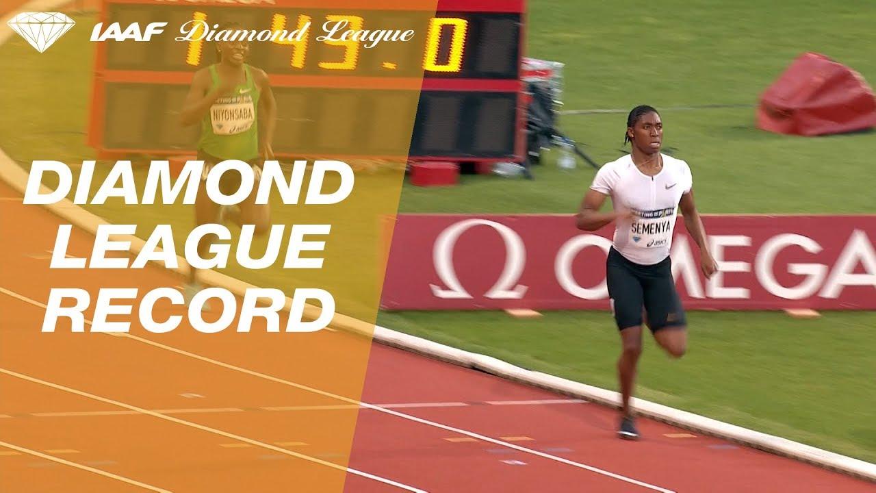 Caster Semenya 1.54.25 4th Fastest ALL-TIME Wins Women's 800m - IAAF Diamond League Paris 2018