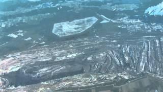 Przelot nad elektrownią i kopalnią Bełchatów