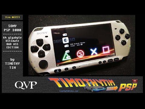 Custom Sony Silver and Black 64gb PSP ULTIMATE BADASS EDITION