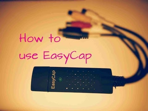 How To Use Easy Cap Usb To Rca.