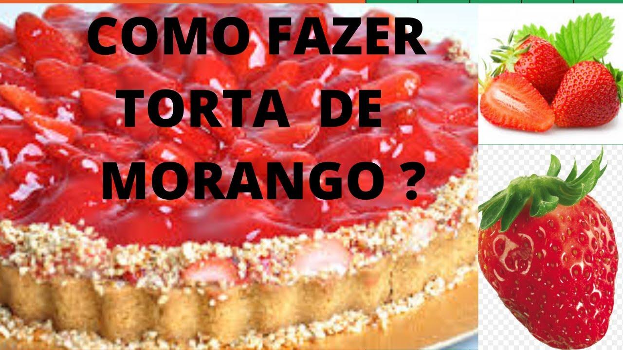 COMO FAZER TORTA DE MORANGO COM NOZES