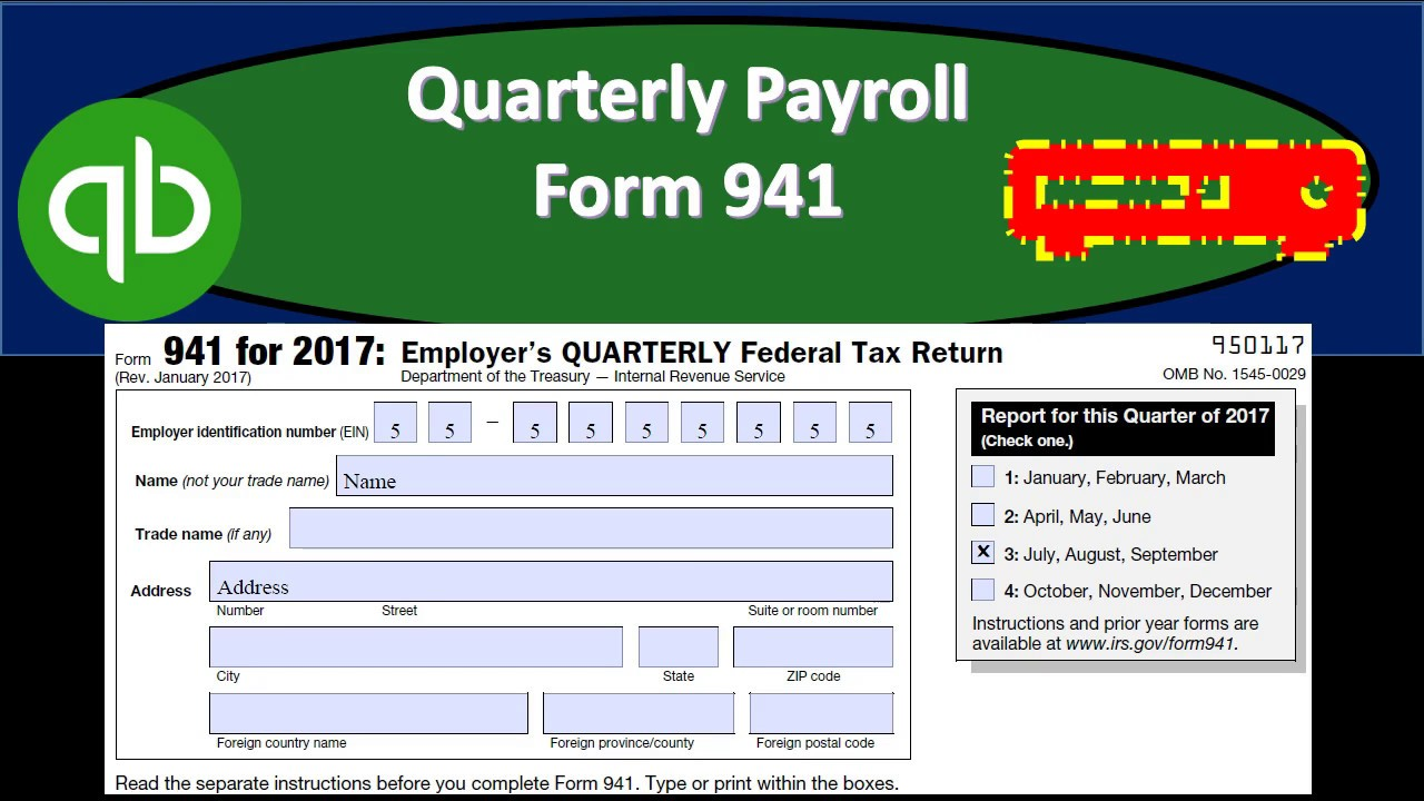 941 form in quickbooks  Quarterly Payroll Form 11 & Payroll Report Forms From QuickBooks