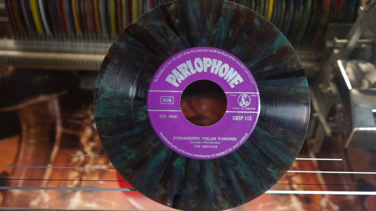 Jonnie's Jukebox Plays: Strawberry Fields Forever - The Beatles 1967 Multicolour Vinyl Record