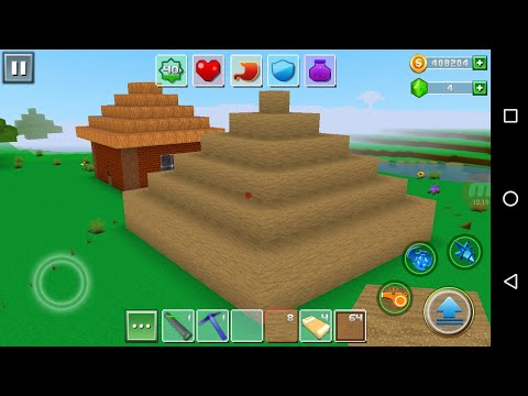Exploration Lite Craft 'CanadaDroid' Android Gameplay #12   Learn How To Make A Sand Pyramid  