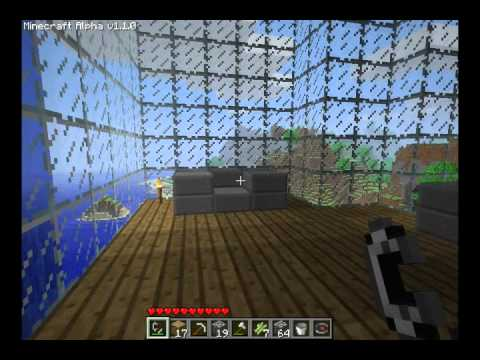 how to break glass in minecraft