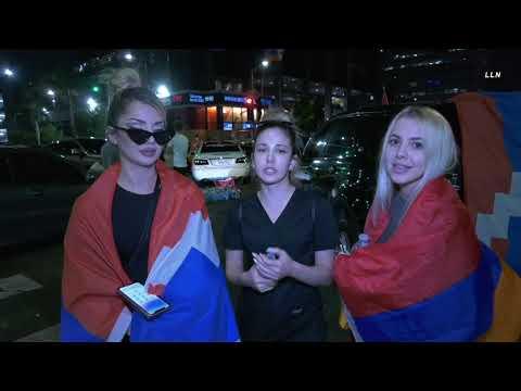 Armenian American Protesters Block Hollywood freeway | HOLLYWOOD CA 10.3.20
