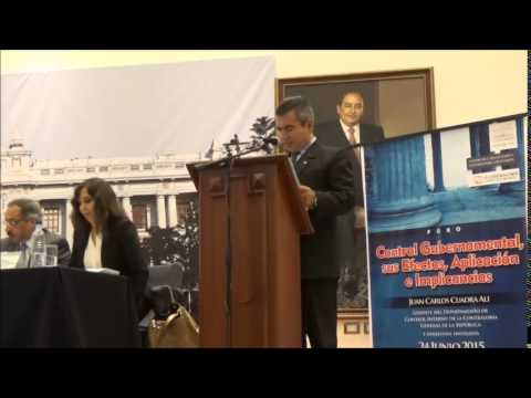 Conferencia: 'Control Gubernamental, Aplicación y Efectos'