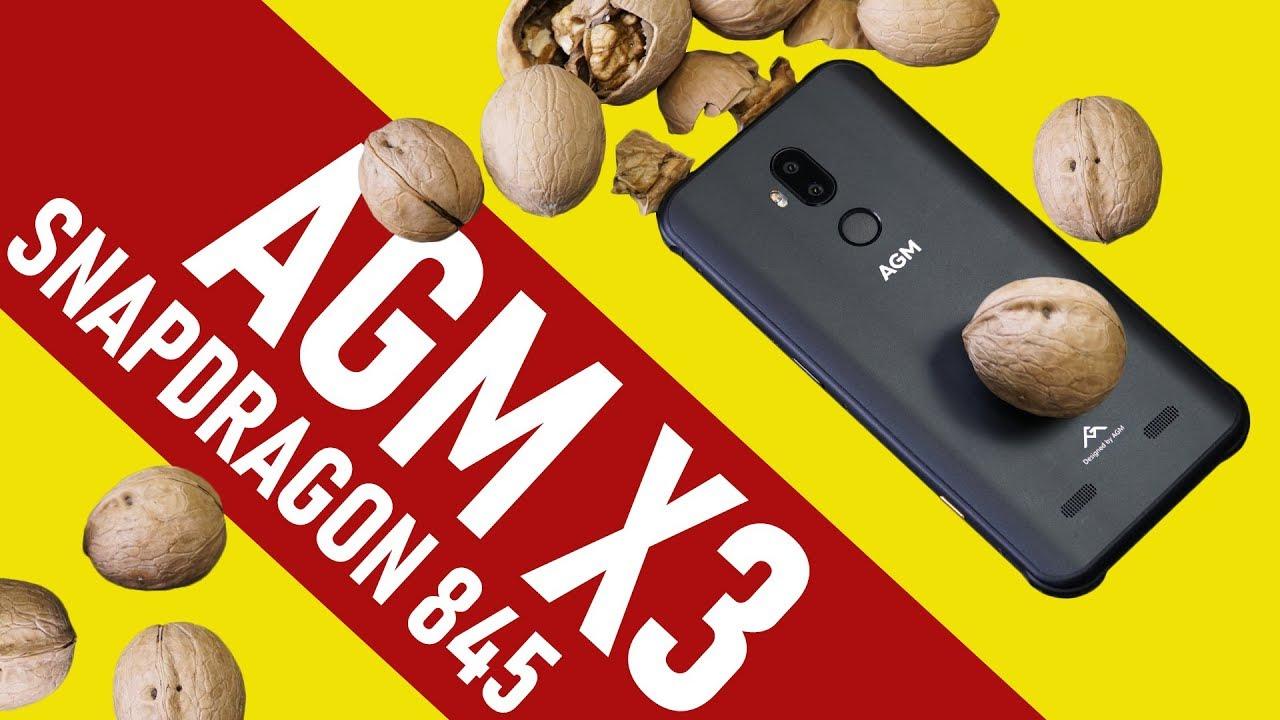 Самый мощный в мире защищенный смартфон. Обзор AGM X3 на Snapdragon 845. Играем в PUBG + краш-тест