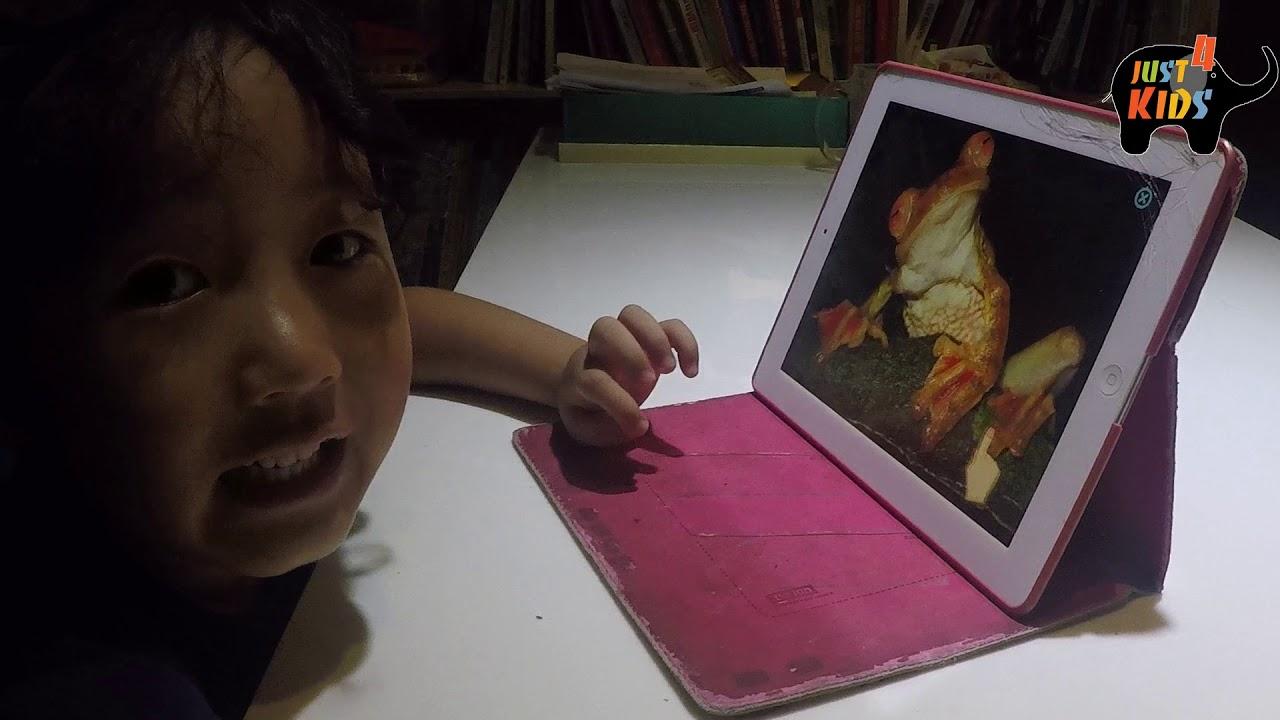 Bé 4 tuổi tự học tiếng Anh bằng phần mềm Monkey Junior