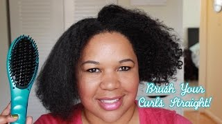 Brush Your Curls STRAIGHT with HEAD KANDY!    Natural Hair