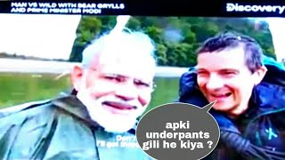 man vs wild with pm narendra modi full episode || best funy episode in man vs wild