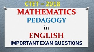 Maths pedagogy and Teaching  for CTET in English by Nitya Classes covered by Lalit Dhamaniya Sir