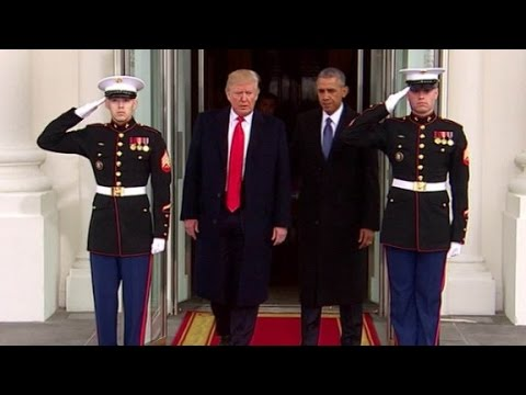 Trump, Obama depart White House