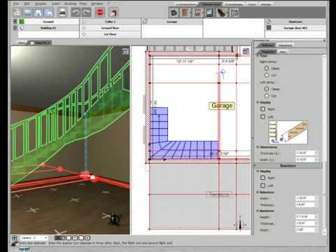 3d home design by livecad tutorials 20 l shaped staircases youtube. Black Bedroom Furniture Sets. Home Design Ideas